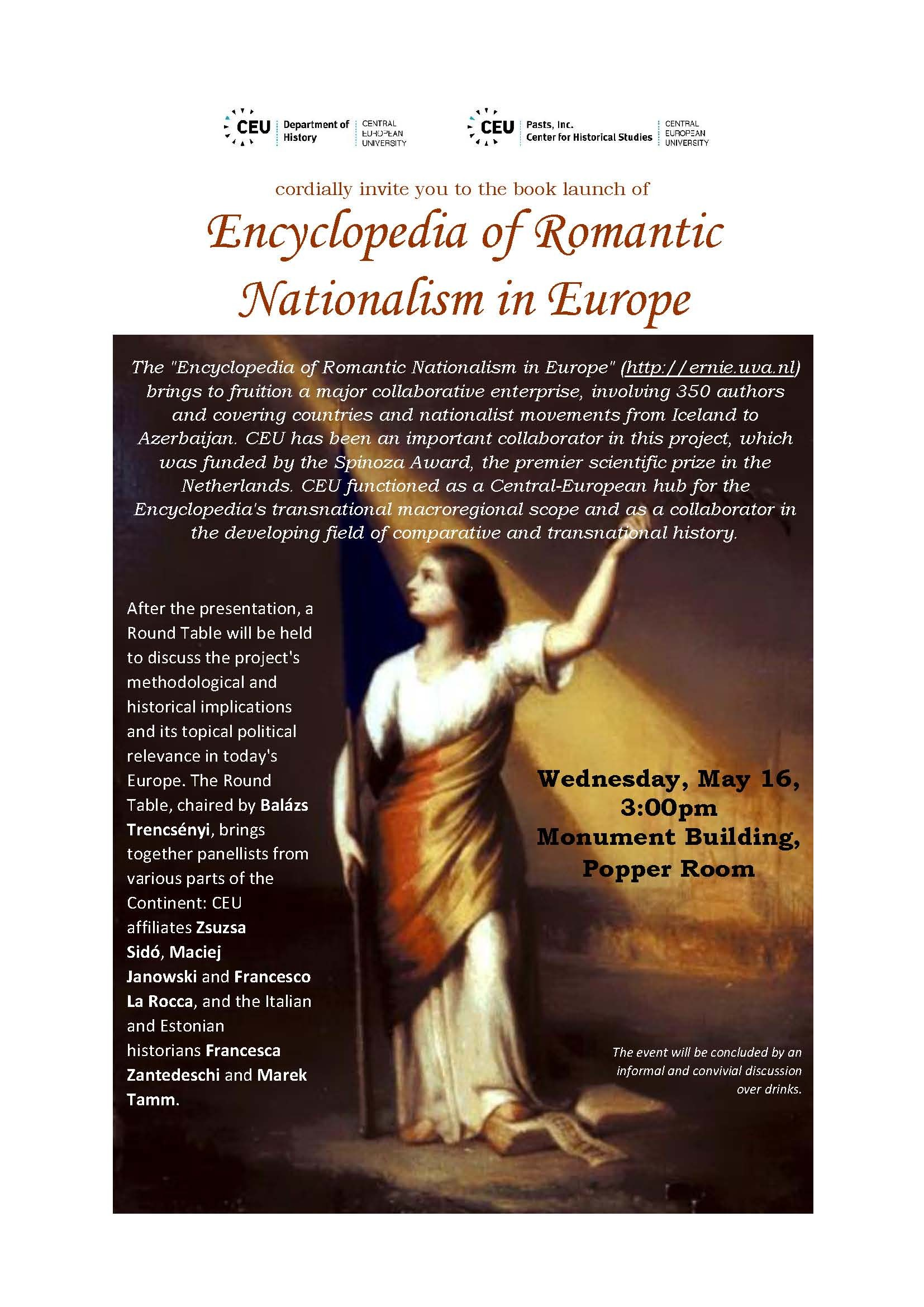 Romantic Nationalism booklaunch poster